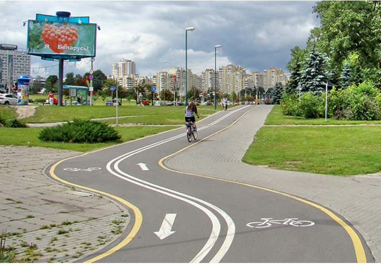 Велосипедная дорожка фото